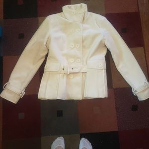 Rue 21 White Peacoat Size XL